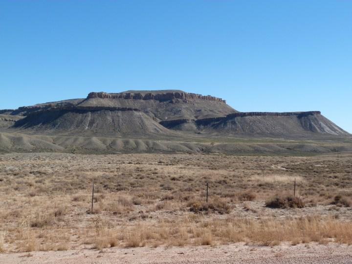 The bleak, treeless, MartiaN like landscape of Wyoming