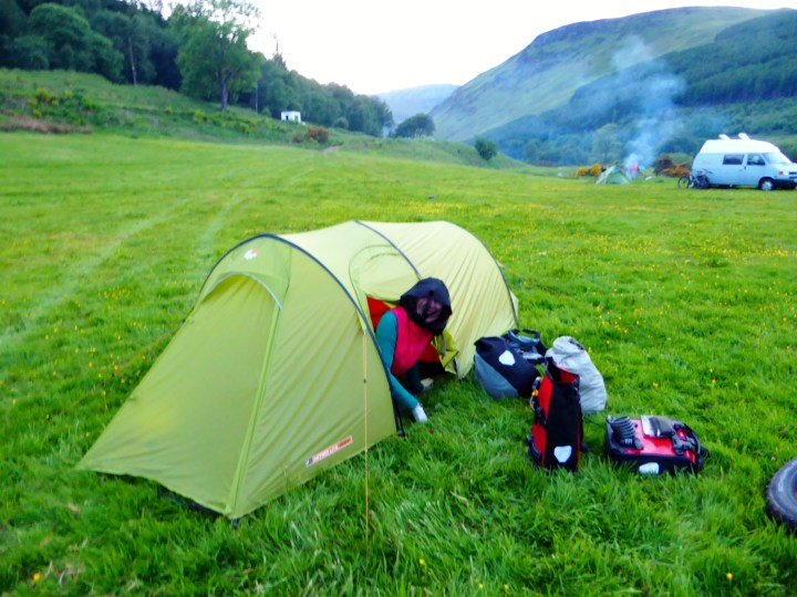 Camping with midges on Arran
