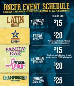 RNCFR Event Schedule
