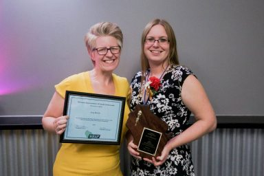 Activity Assistant of the Year Amy Martin (R) was nominated by Melissa Stockwell (L).