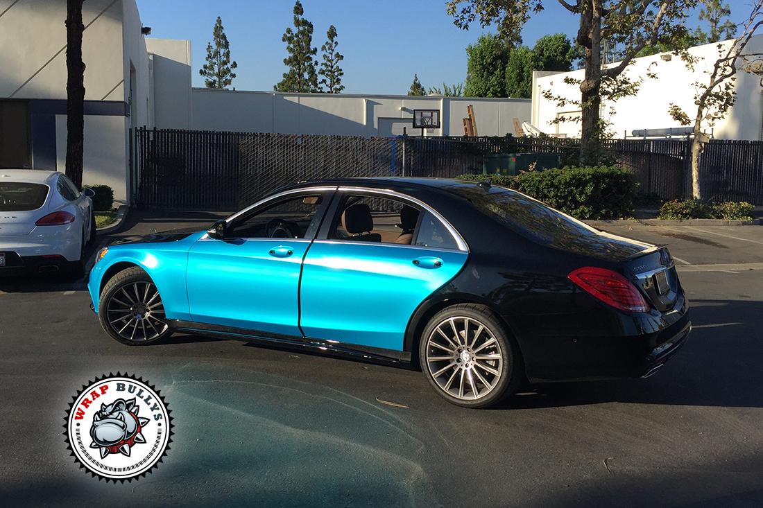 2015 Mercedes Benz Car Wrap   Teal Blue Mercedes