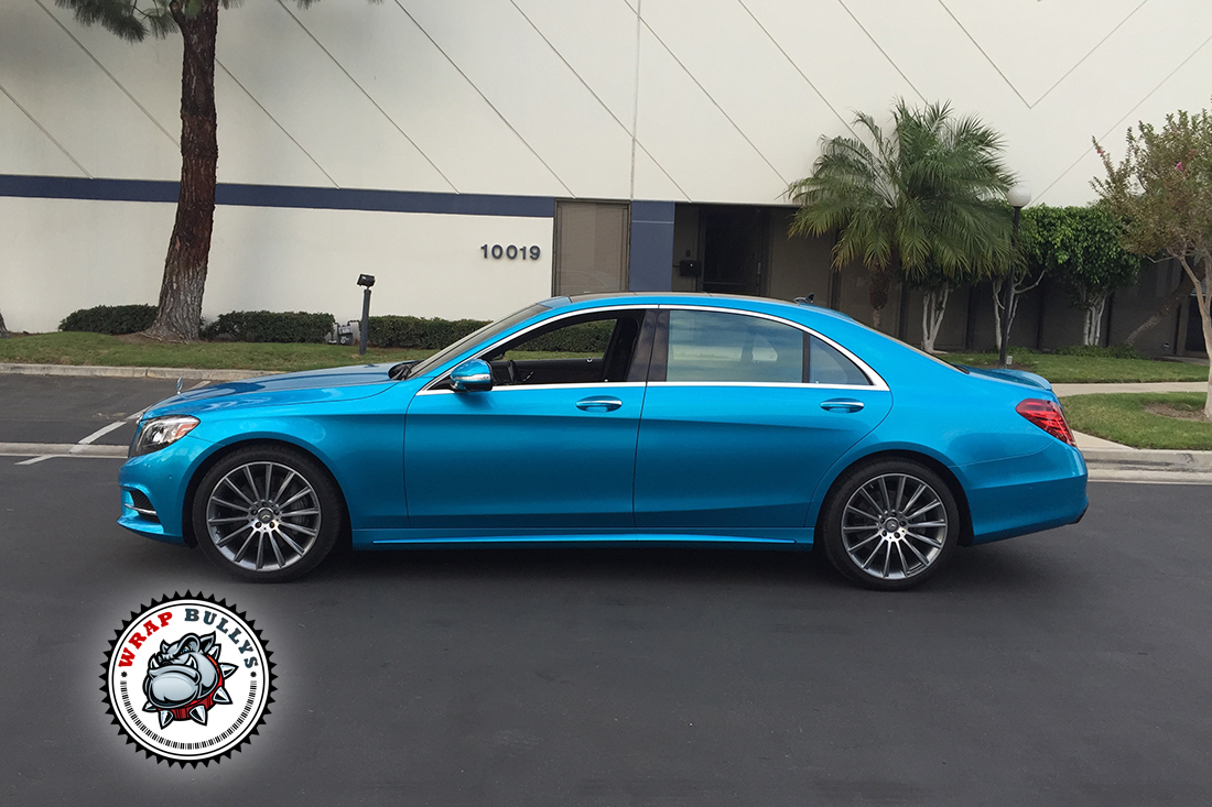 2015 Mercedes Benz Car Wrap | Teal Blue Mercedes