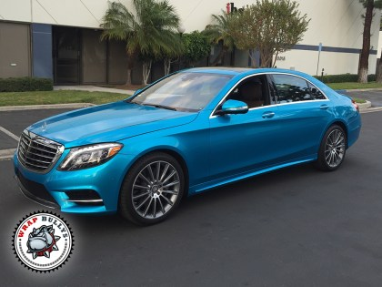 Mercedes Benz S550 Wrapped in 3M Gloss Atlantis Blue Car Wrap