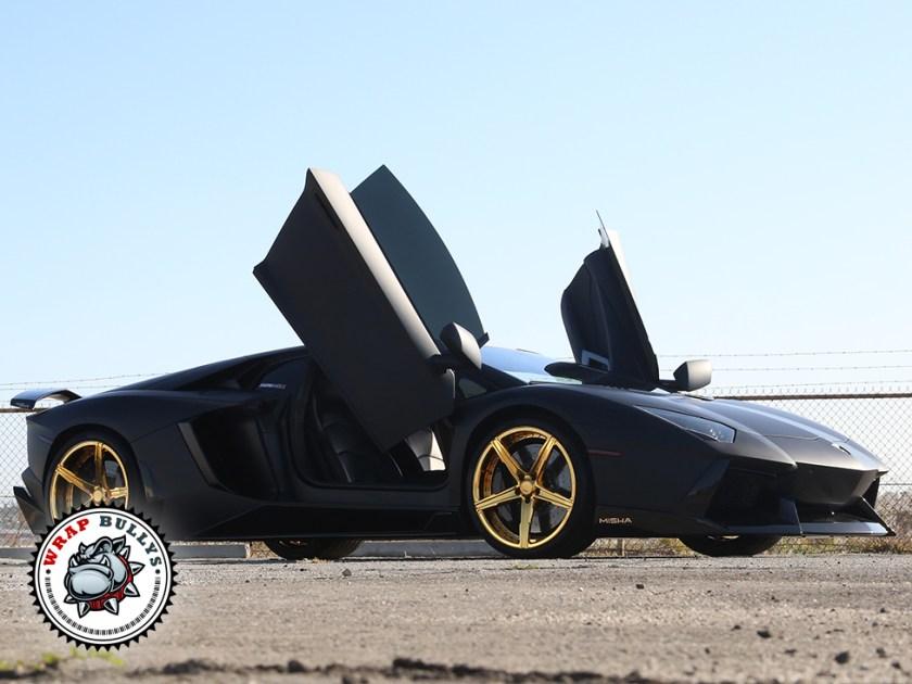 Lamborghini Wrapped in 3M Deep Matte Black
