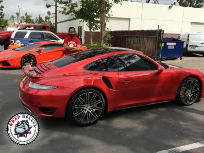 Porsche 911  Wrapped in 3M Gloss Dragon Red