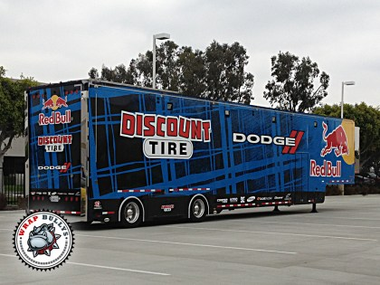 Red Bull Tractor Trailer Graphics Wrap