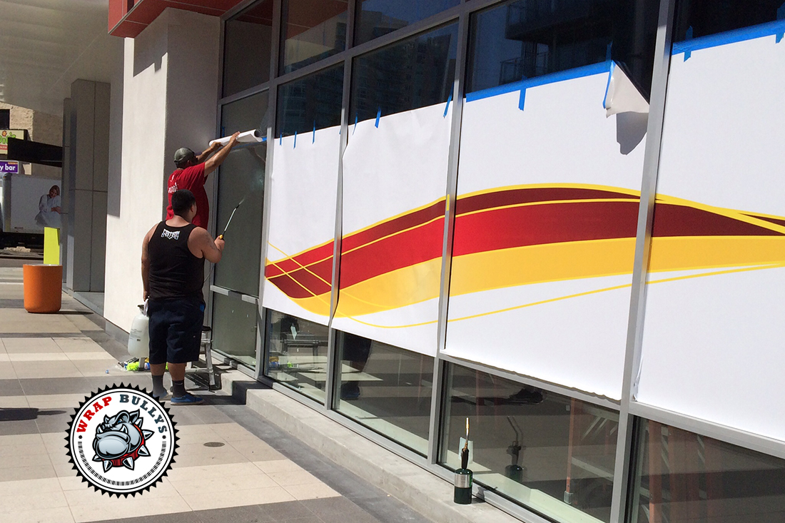 custom design, print, and install window wraps in los angeles ca.