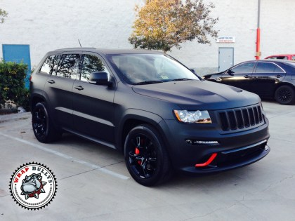 Jeep SRT8 Wrapped in 3M Deep Matte Black