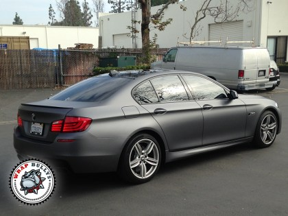 BMW 550i Wrapped in 3M Dark Gray Car Wrap