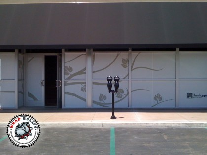 Storefront Window Graphics Wraps Installation
