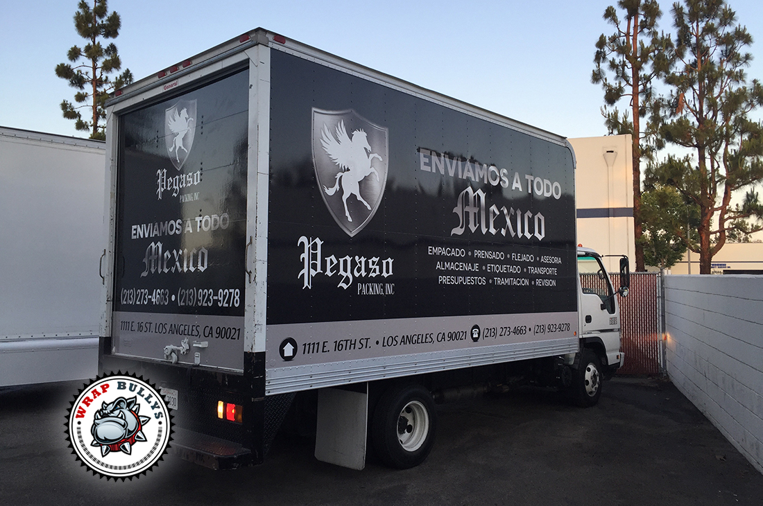 Custome Box Truck Wraps. Design, Print, Install