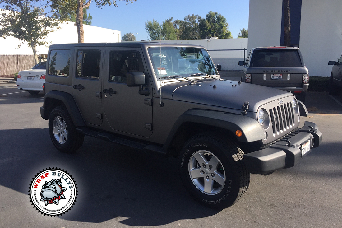 Custom Matte Wrap, Matte Gray Jeep Wrap.