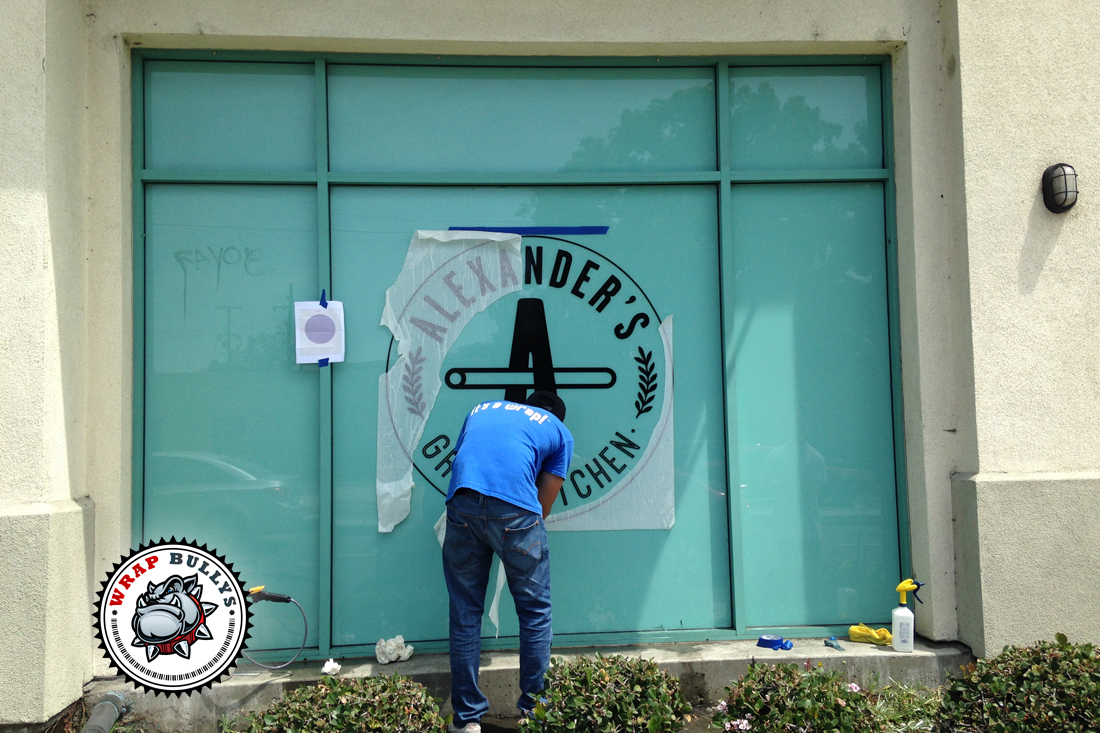 Custom Window Wrap, Storefront Graphics, Print and Install