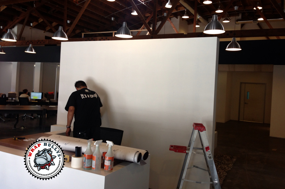 Professional vinyl installation service for wall wraps, wall graphics, wall murals. Call us today to get started.
