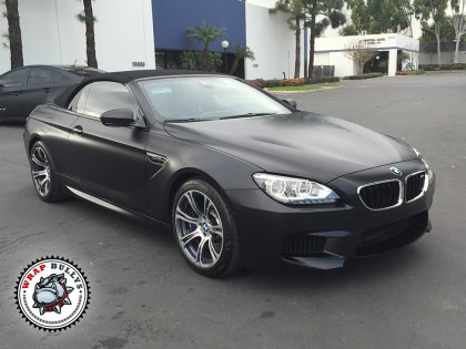 BMW M6 Wrapped in 3M Satin Black