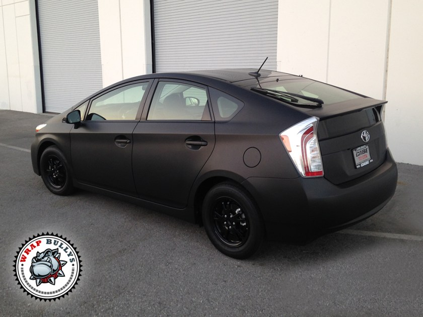 Toyota Prius Wrapped in 3M Matte Black