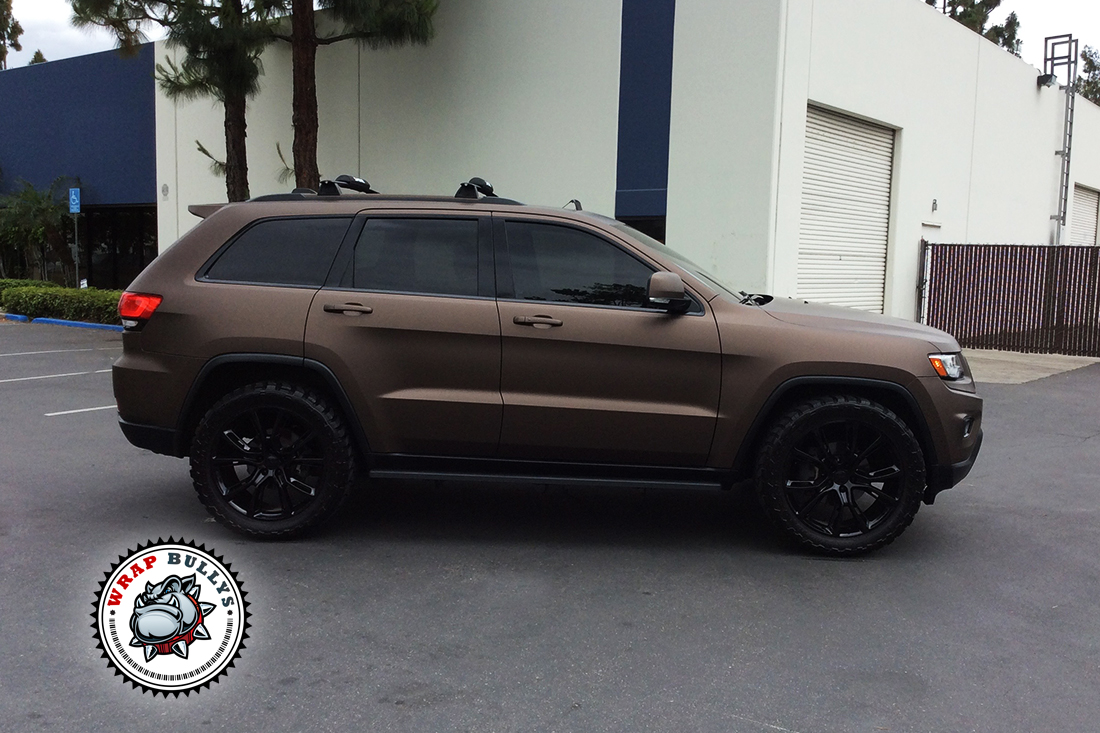 jeep wrapped in 3m matte brown wrap bullys. Black Bedroom Furniture Sets. Home Design Ideas
