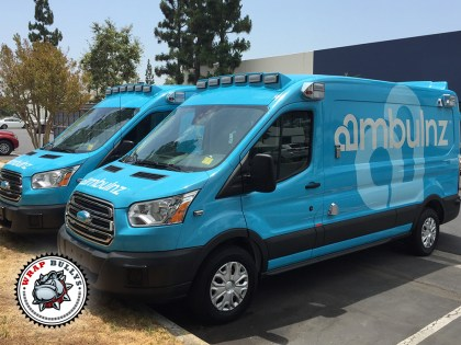 Ambulnz Ford Transit Van Wrap