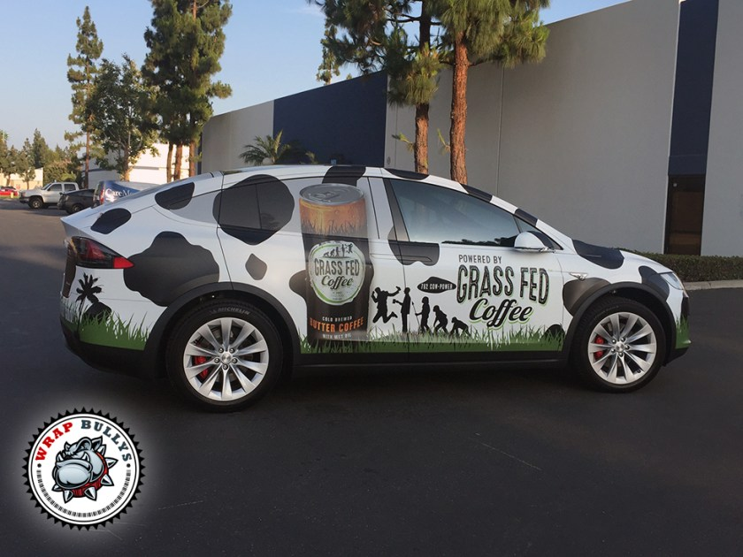 Tesla X Vehicle Wrap