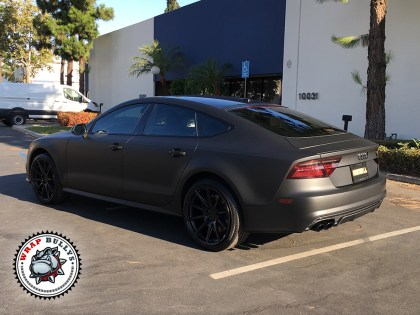 Audi S7 Wrapped in 3M Deep Matte Black