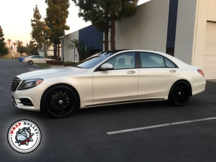 Mercedes Benz Wrapped in 3M Satin Pearl White