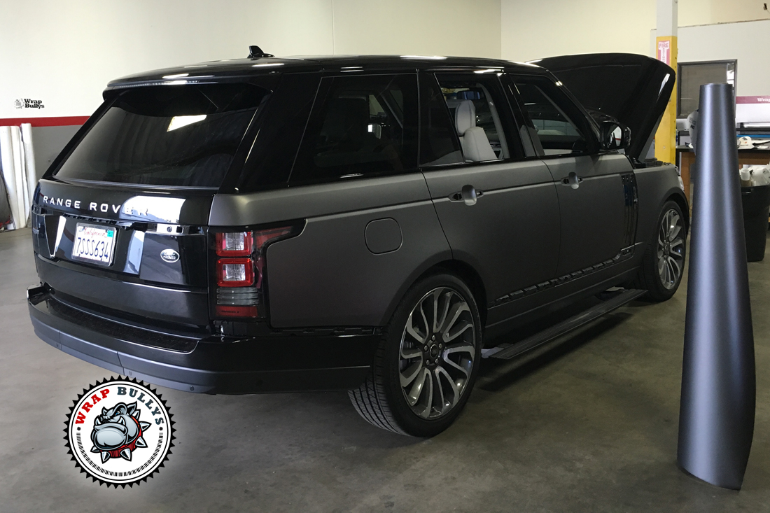 matte gray range rover supercharged autobiography wrap. Black Bedroom Furniture Sets. Home Design Ideas