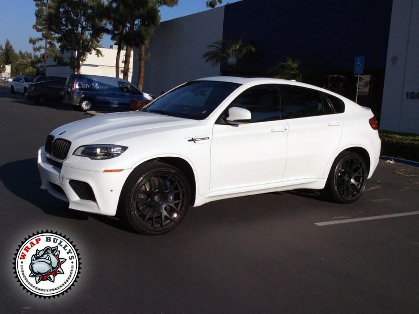 BMW X6 M Wrapped in 3M Satin White