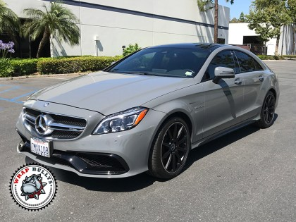 Mercedes Benz Wrapped in 3M Gloss Battleship Gray