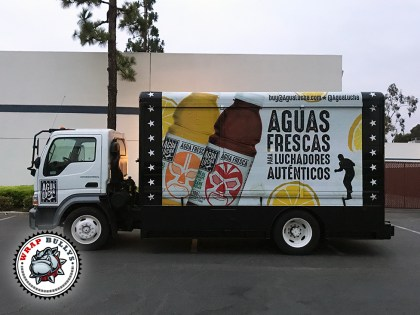 Aguas Frescas Box Truck Wrap