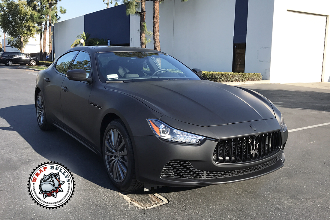 maserati wrapped in 3m deep matte black | wrap bullys