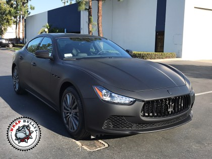 Maserati Wrapped in 3M Deep Matte Black