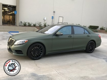 Mercedes Wrapped in 3M Matte Military Green