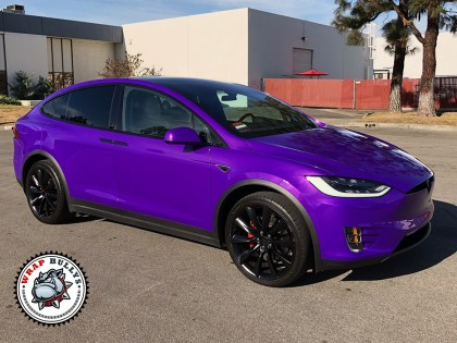 3M Gloss Plum Explosion Tesla Model X