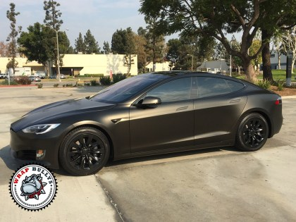 Tesla Model S Satin Gold Dust Auto Wrap
