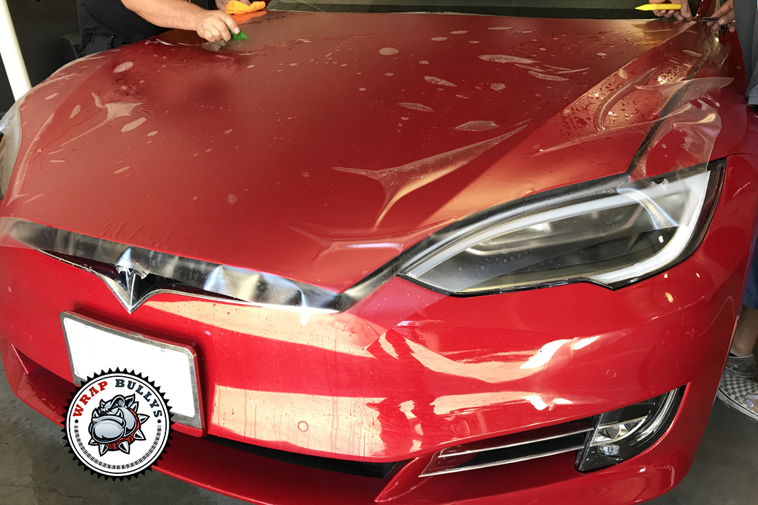 Tesla S Wrapped in Matte Clear Bra Paint Protection | Car Wrap Service