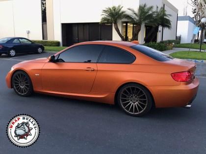 BMW Wrapped in 3M Satin Burn Orange