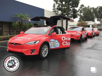 Tesla X Commercial Wrap