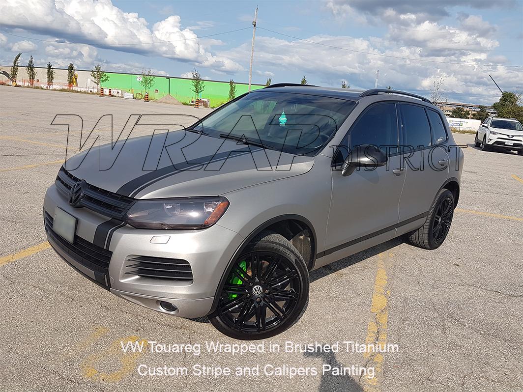 VW Touareg Wrapped In Brushed Titanium Also Custom