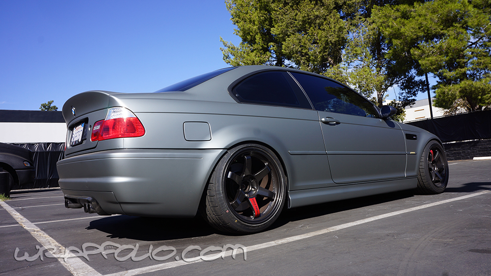 E46 M3 Anthracite Matte Metallic Wrap Wrapfolio