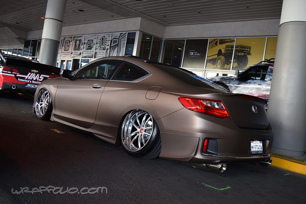 Honda Civic Commercial >> Matte Brown Metallic Honda Accord | Wrapfolio