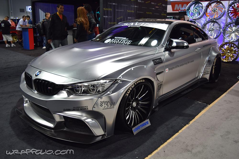 Frozen Chrome BMW M4 wrap | Wrapfolio