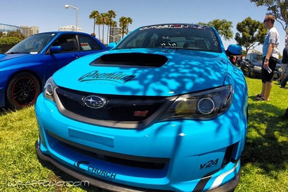 Blue Subaru Sti Wrap Wrapfolio