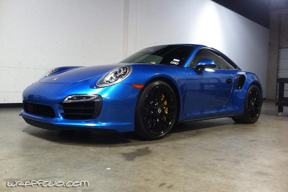 Bright Blue Metallic Porsche Wrap Wrapfolio