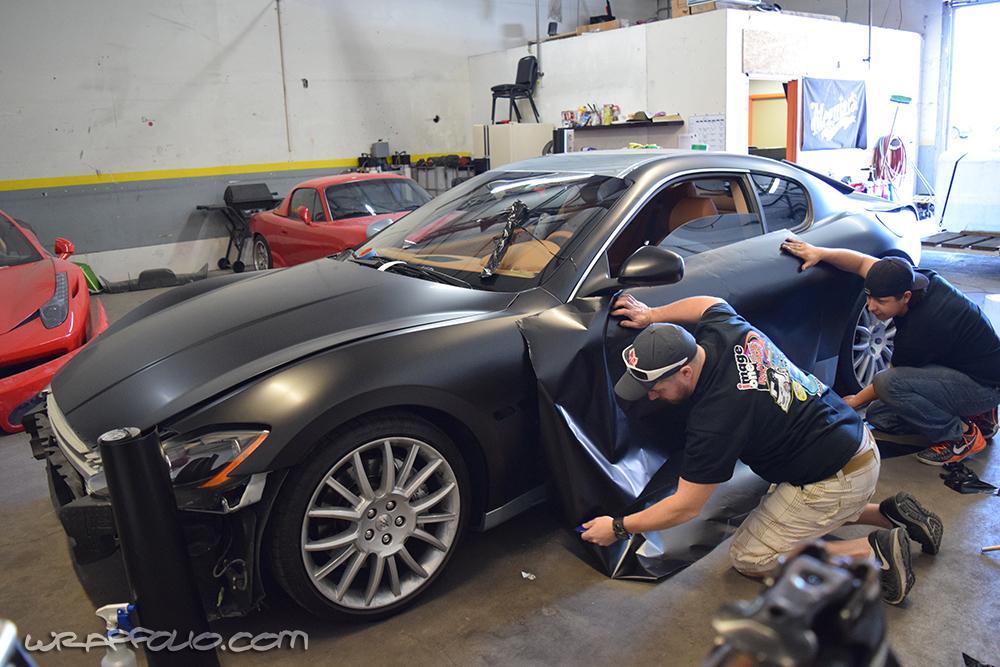 Satin Black Maserati Wrap Wrapfolio