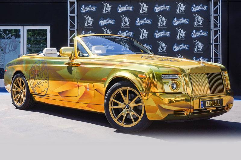 Printed Gold Chrome Drophead Wrap   Wrapfolio