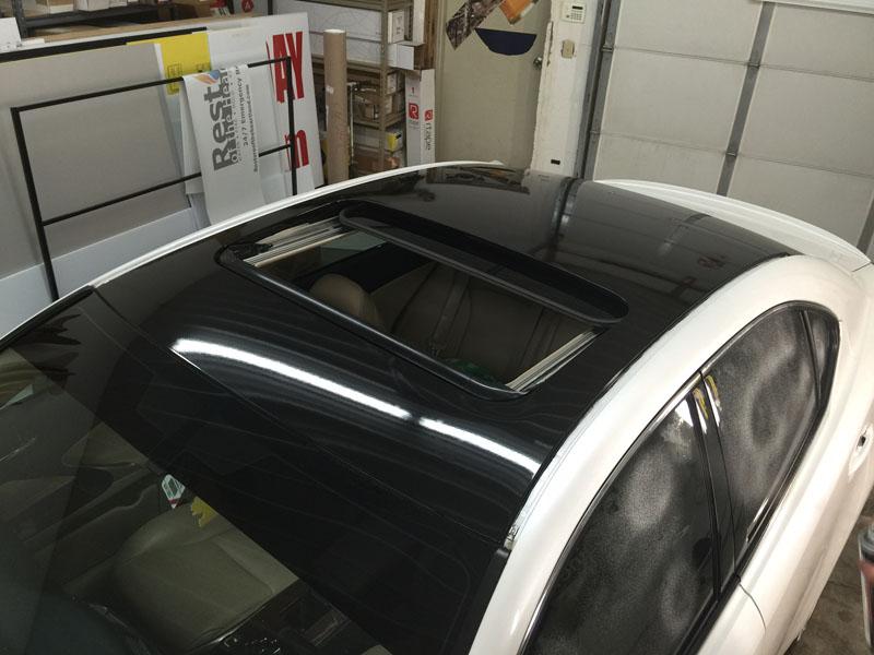 Lexus Gloss Black Roof Wrap Wrapfolio
