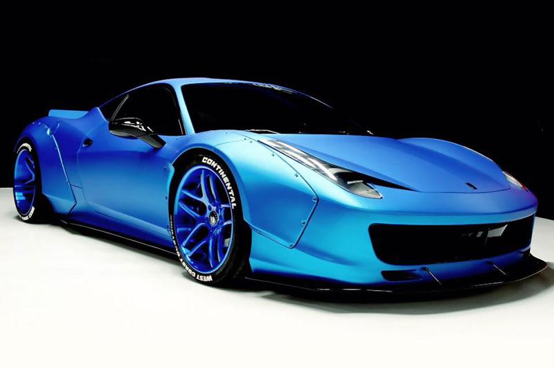 justin bieber s frozen blue chrome ferrari 458 wrapfolio
