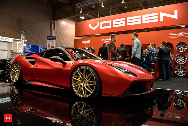APA Satin Candy Red Ferrari 488 GTB Wrap
