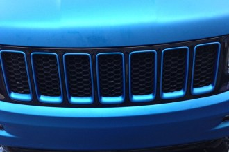 Matte Blue Metallic Jeep SRT8 wrap