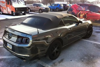 Black Chrome Mustang